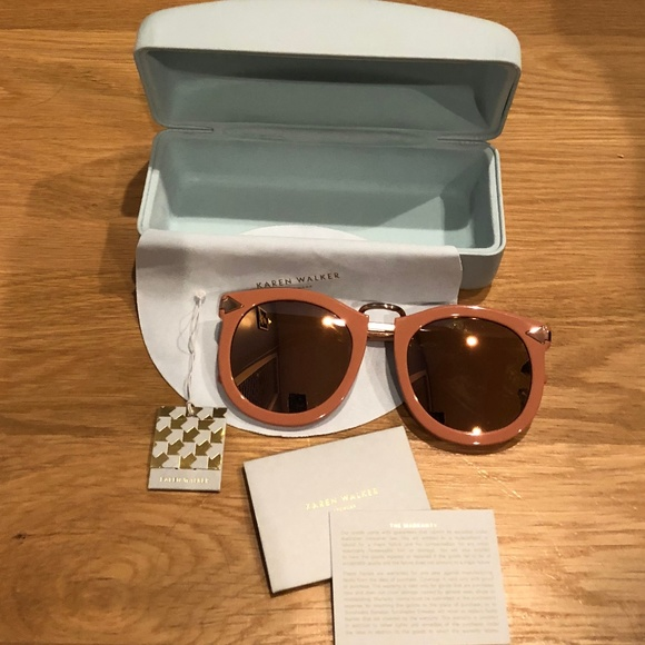 a96c11cb458c Karen Walker Accessories - Karen Walker Super Lunar Sunglasses in Rose Pink